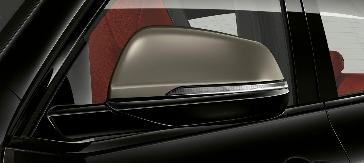 Außenspiegelkappen in Ceriumgrau BMW X2 M35i Saphirschwarz metallic F39 Exterieur