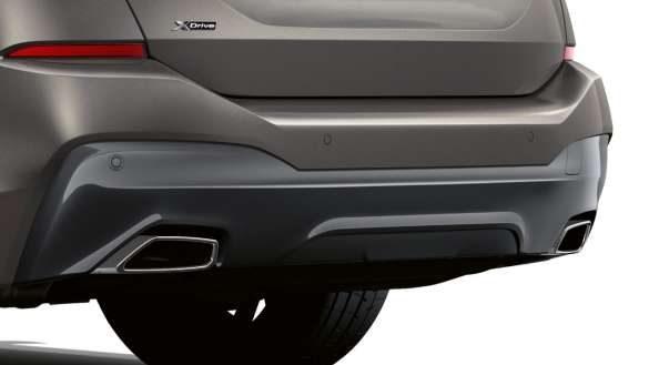 BMW 6er Gran Turismo Auspuffendrohr trapezförmig