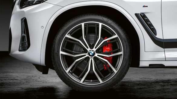 """BMW X4 G02 21"""" M Performance Schmiederad Y-Speiche 701 M Bicolor (Black matt, glanzgedreht) 2021"""
